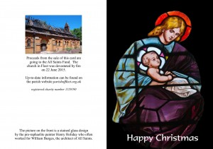 Christmas Card Design A (Stained Glass Window)